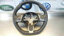 FIAT 500 ABARTH FLAT BOTTOM MULTI FUNCTION LEATHER STEERING WHEEL 61485150D