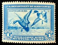 1934 US Federal Duck Stamps SC#RW1 MLH/OG CV:$300