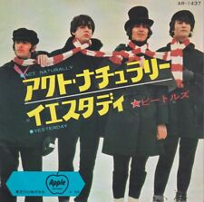 Beatles Act Naturally / Yesterday Japan 45 Import With Picture Sleeve 400 Yen
