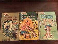 Lot of 3: Easy Reader Barney Beagle Benjamin in the Woods Wonder Books Hc