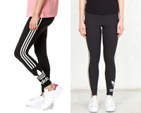 Adidas Trefoil Tights With 3-Stripe-Black