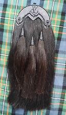 ORIGINAL BLACK HORSE HAIR SPORRAN ST ANDREW CANTLE/BAGPIPE PIPER KILT SPORRANS