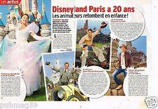 Coupure de presse Clipping 2012 (2 pages ) Disneyland Paris à 20 ans