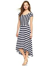 NWOT Gap Striped Ballet midi dress Navy white SZ S  2014