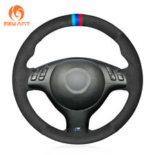 Black Suede Steering Wheel Cover for BMW E46 E39 330i 540i 525i 530i 330Ci M3