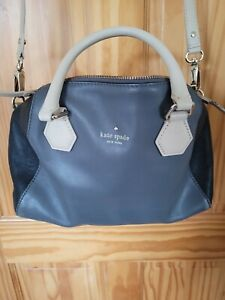 KATE SPADE Grey Leather Medium Cross Body Shoulder Bag