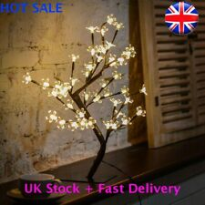 NEW LED Cherry Blossom Tree Bonsai Light Home Decor Bedside Lamp Party Gift UK