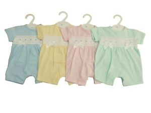 BNWT Baby spanish Romany all in one romper pink or blue Mint green lemon 5 sizes