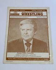 World Championship Wrestling Vince Mcmahon 1975 MSG Program WWF WWE