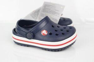Crocs Little Kids' Crocband Clog Slip On Size C5 Navy Blue White 204537