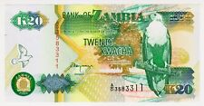 1992 Zambia 20 Kwacha Unc 2583311 Paper Money Banknotes Currency