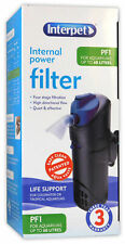INTERPET PF1 INTERNAL FILTER 380Lph 7W MEDIA ADJUSTABLE AQUARIUM FISH TANK