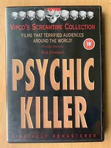 Psychic Killer DVD 1975 Cult Exploitation Horror Film Uncut Vipco UK DVD