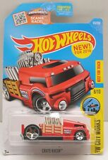 2016 Hot Wheels Crate Racer - HW City Works 8/10 - BEST FOR THE TRACK - RED