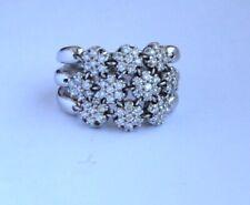 SONIA BITTON  14K 1 ctw Diamond Flex Flower Ring  Size 9