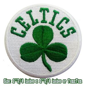 New Boston CELTICS Basketball sport Embroidery Patch iron, sewing on Clothes