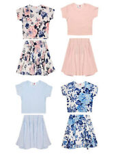 Girls' Floral Cropped T-Shirts, Top & Shirts (2-16 Years)