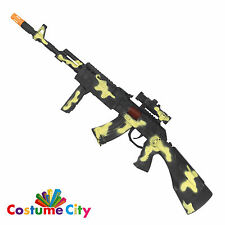 Prop Army Soldier Camouflage Machine Gun Rifle Fancy Dress Costume Accessory
