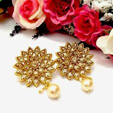 New Indian Asian Bridal Jewellery Bollywood Party Ethnic Wear Studs Earrings