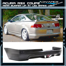 For 02-04 Acura RSX Coupe 2Dr Mugen Style Rear Bumper Lip LED Brake Light