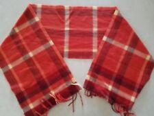 100% Cashmere Scarf Made in Scotland Red Striped
