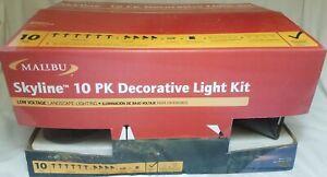 NEW Malibu Skyline 10-Pk Low Voltage Landscape Lighting Decorative Light Kit  j7