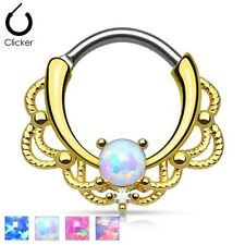 Opal Ear Stone Body Piercing Jewellery