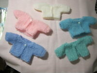 """NO DOLL EASTER MOHAIR BLEND SWEATERS 2 FOR 11"""" TINY TEARS 12"""" BETSY W. CHOOSE 2"""