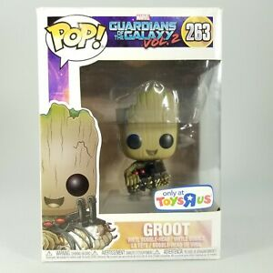 Funko Pop! Guardians Of The Galaxy Vol. 2 GROOT Holding Bomb #263 Toys R Excl.