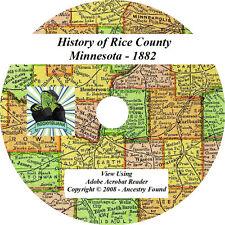 1882 History & Genealogy of RICE County Minnesota MN