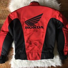 Honda Racing Corp. Rider Collection Intersport Motorcycle Jacket Black Red Small