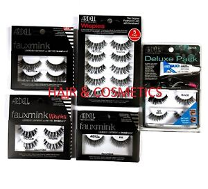ARDELL PROFESSIONAL-WISPIES/ FAUX MINK/ DELUXE PACK- LASHES-FREE UK TRACK POST!!