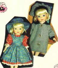 """Coat Pattern fits 10"""" Doll Bleuette Patsy Ann Estelle Linda McCall Dianna Effner"""