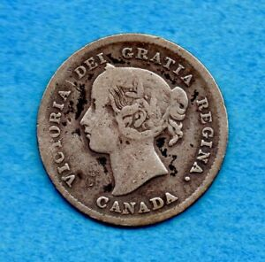 Canada 1898 5 Cents Five Cent Small Silver Coin - Circulated