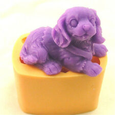Dog Silicone Mould Soap Cutter Candle Molds Baking Cake Decorating DIY Chocolate