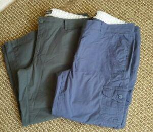 Lot of 2 Eddie Bauer Women's crop capri cargo pants green/ blue