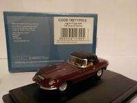 Model Car, Jaguar E-Type, Soft top, Maroon,  1/76 New