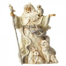 Weihnachtsmann Weihnachtsfigur mit Tieren Dekofigur Jim Shore Heartwood Creek