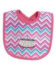 Stephan Baby Girl Pink Multi-Color Chevron Striped Birthday Cake Bib 616224