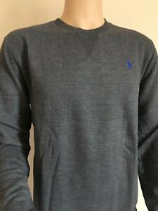 Mens Ralph Lauren Long Sleeve Cotton T Shirt Grey Size XL RRP £55