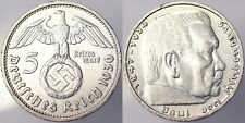 5 REICHSMARK 1936 D GERMANIA GERMANY ARGENTO SILVER #2124