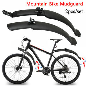 Mountain Bike Mudguard 26'' Bicycle Cycling Front Rear Mud Guards Fenders Set
