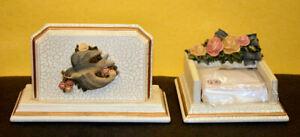 Bella Rosa Memo Pad Holder and Letter Holder- Desk SET of 2