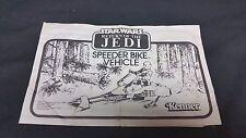 Star Wars Return of the Jedi Vintage Kenner Speeder Bike Instruction Manual