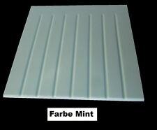 SystemCeram Keramik/Steinzeug Ablage Platte 9205 Abtropffläche Mint 44x44x15