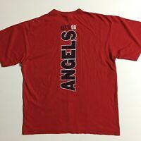 Vtg NIKE red tag Men's L Anaheim ANGELS Baseball 2005 MLB Tee T-shirt Crewneck