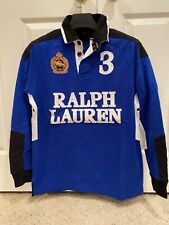 NWT Ralph Lauren Snow Polo Challenge Cup #3 Rugby Shirt Long Sleeve Men's 1XB