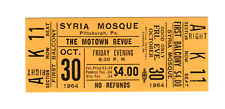 The Motown Revue - Oct 30, 1964 - UNUSED ticket - Pittsburgh, PA (MINT)