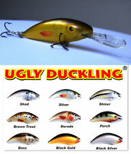 Unique collection of 9 Ugly Duckling Lures,Original Balsa Wood small lure +1free