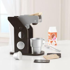 Kidkraft Espresso Coffee Set   Wooden Coffee Maker Plastic Cup Milk Cartan